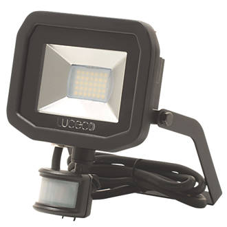 Image of Luceco Guardian LED Floodlight & PIR Black 22W Cool White