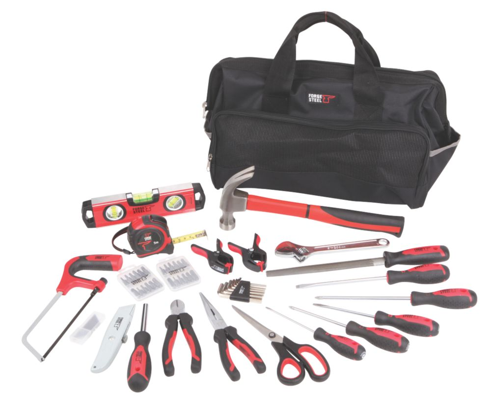 Image of Forge Steel Hand Tool Kit 55 Piece Set