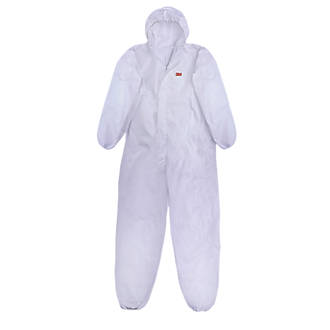 "Image of 3M 4515 4515 Type 5/6 Disposable Coverall White Large / X Large 42-45"" Chest L"