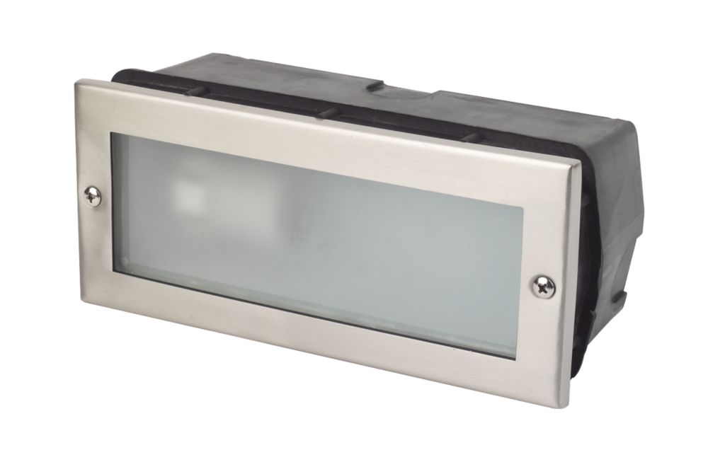 Image of Corsica CFL Brick Light Stainless Steel 40W