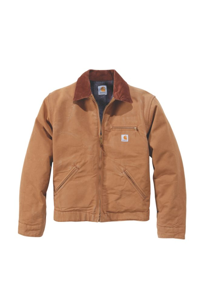 "Image of Carhartt Detroit Jacket Duck Brown X Large 58"" Chest"