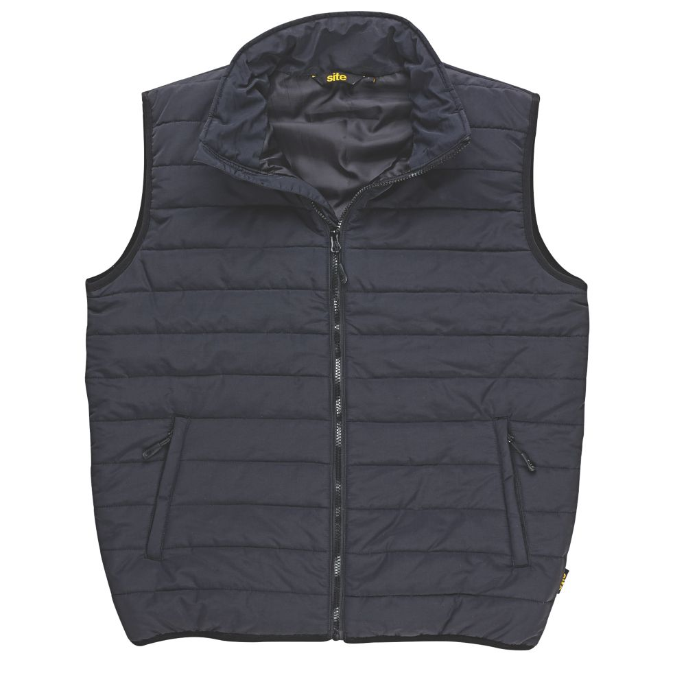 """Image of Site Blackthorn Body Warmer Black X Large 24.2"""""""