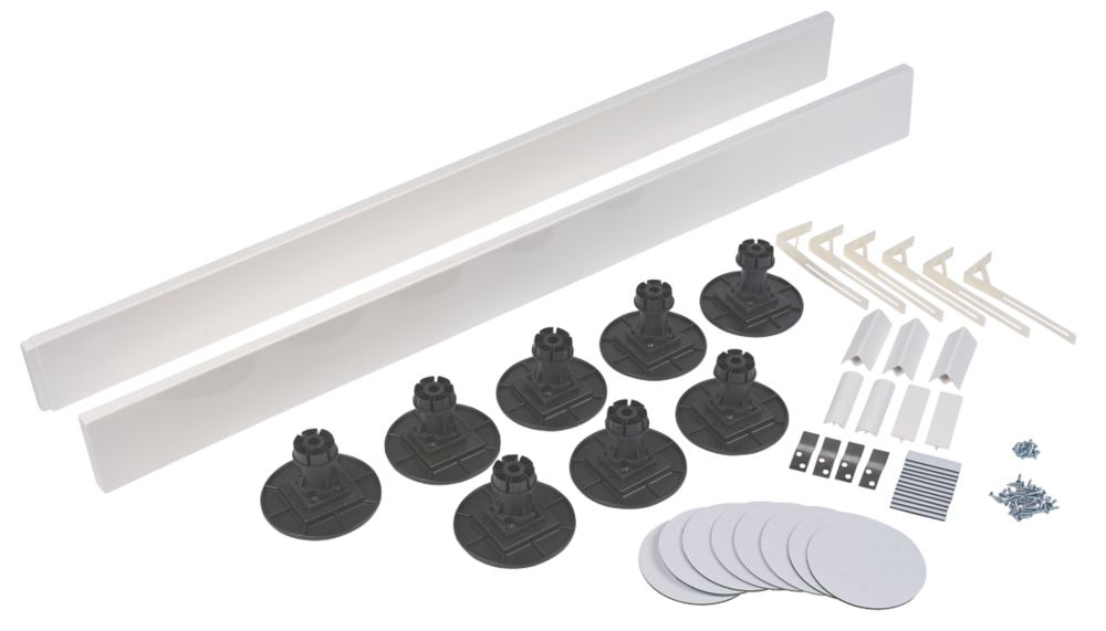 Image of The Shower Tray Company Universal Square Easy Plumb Kit White