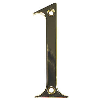 Image of Fab & Fix Door Numeral 1 Gold 80mm