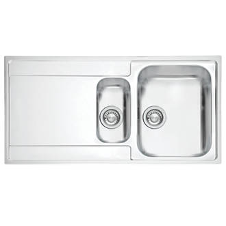 Franke Inset Kitchen Sink 1.2mm Stainless Steel 1.5 Bowl 1000 x ...