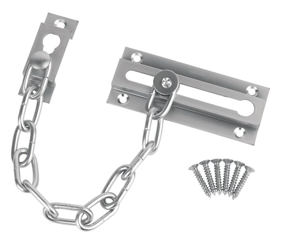 Image of Smith & Locke Security Door Chain Satin Chrome