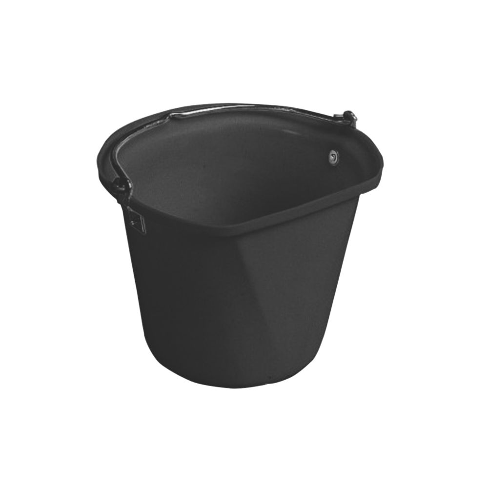 Image of Stubbs Flat-Sided Hanging Feed Bucket Black 14Ltr