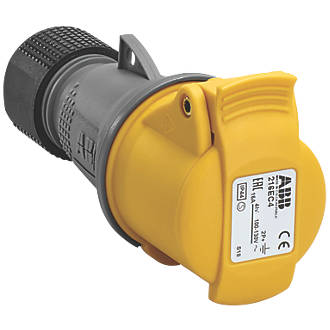 Image of ABB 16A Connector 2P+E 110V Yellow