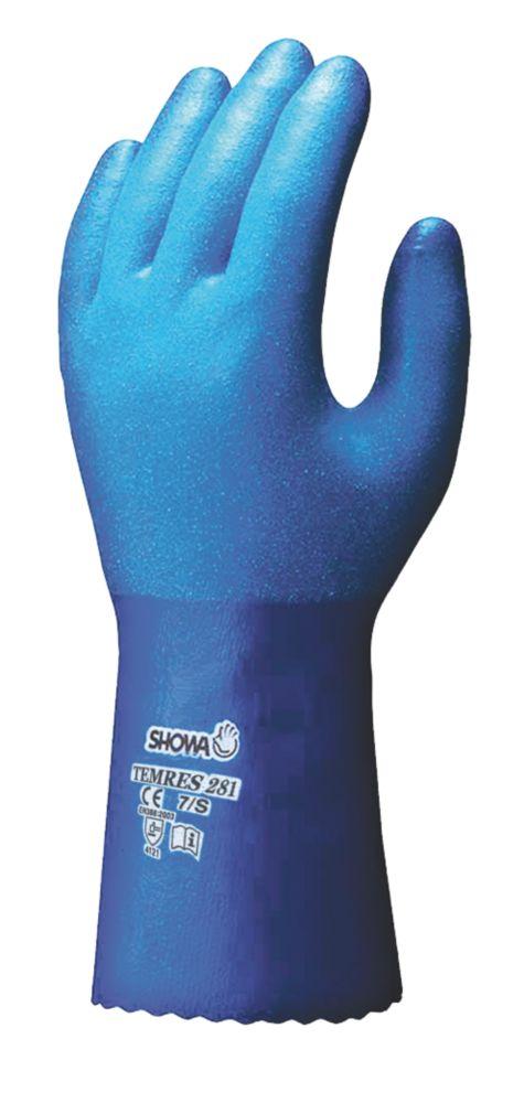 Image of Showa 281 Temres Gauntlets Blue Medium