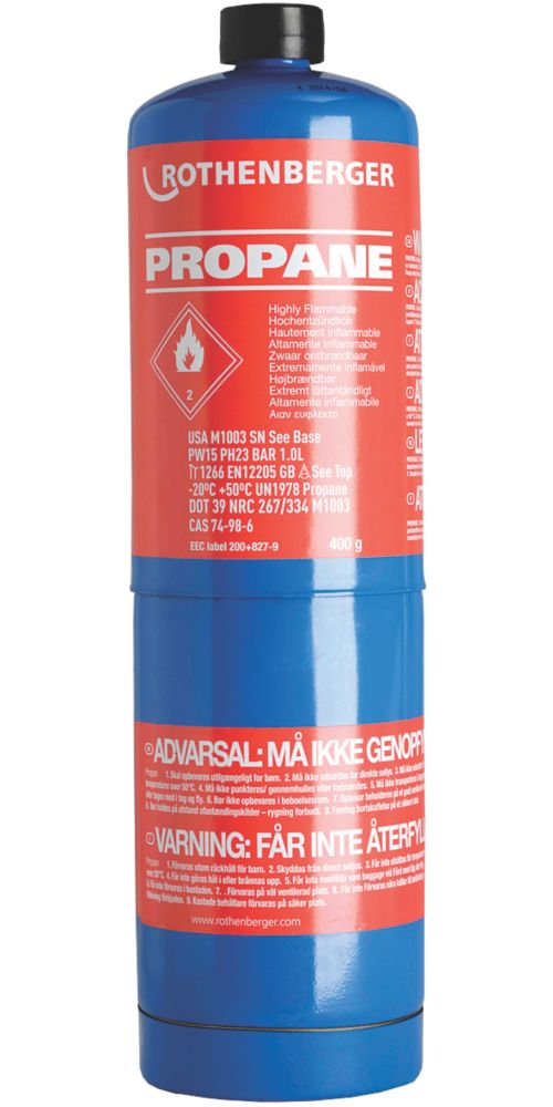 Image of Rothenberger Disposable Propane Gas Cylinder 400g
