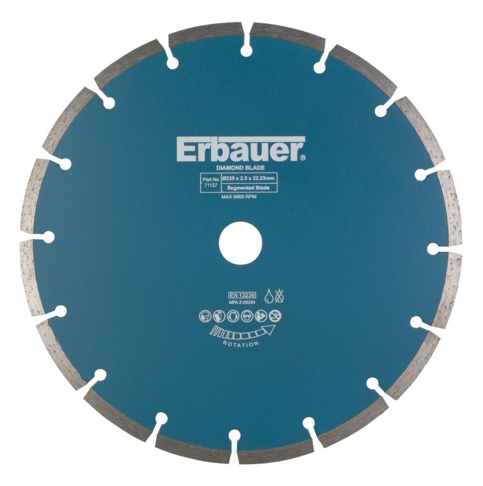 Image of Erbauer Segmented Diamond Blade 230 x 2.5 x 22.23mm