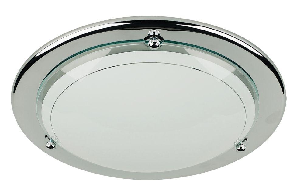 Image of Half Circular Ceiling Light Chrome 60W