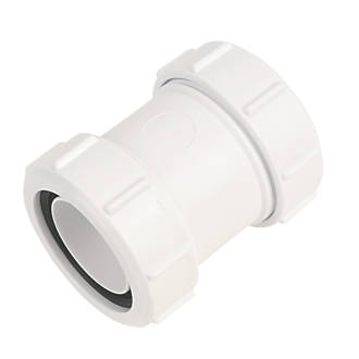 Image of McAlpine T28M Straight Connector White 40mm x 40mm