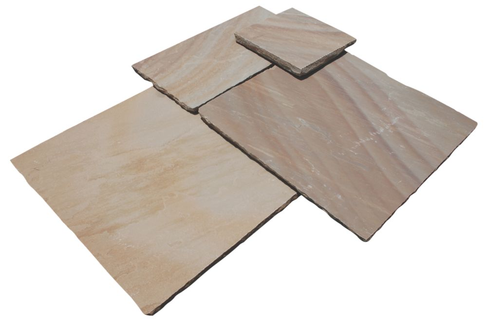 Image of Strata Stone Whitchurch Camel 600 Series Patio Kit 15.25m