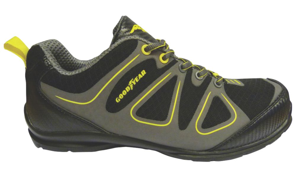 Image of Goodyear GYSHU1509 Safety Trainers Black / Grey Size 10