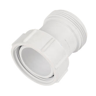 """Image of McAlpine T12A-2 BSP Straight Coupling White 1½"""" x 1½"""""""