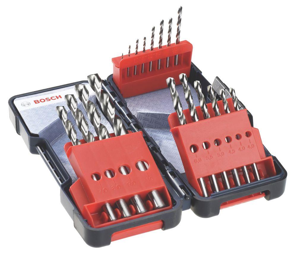 Image of Bosch HSS-G Drill Bits 18 Piece Set