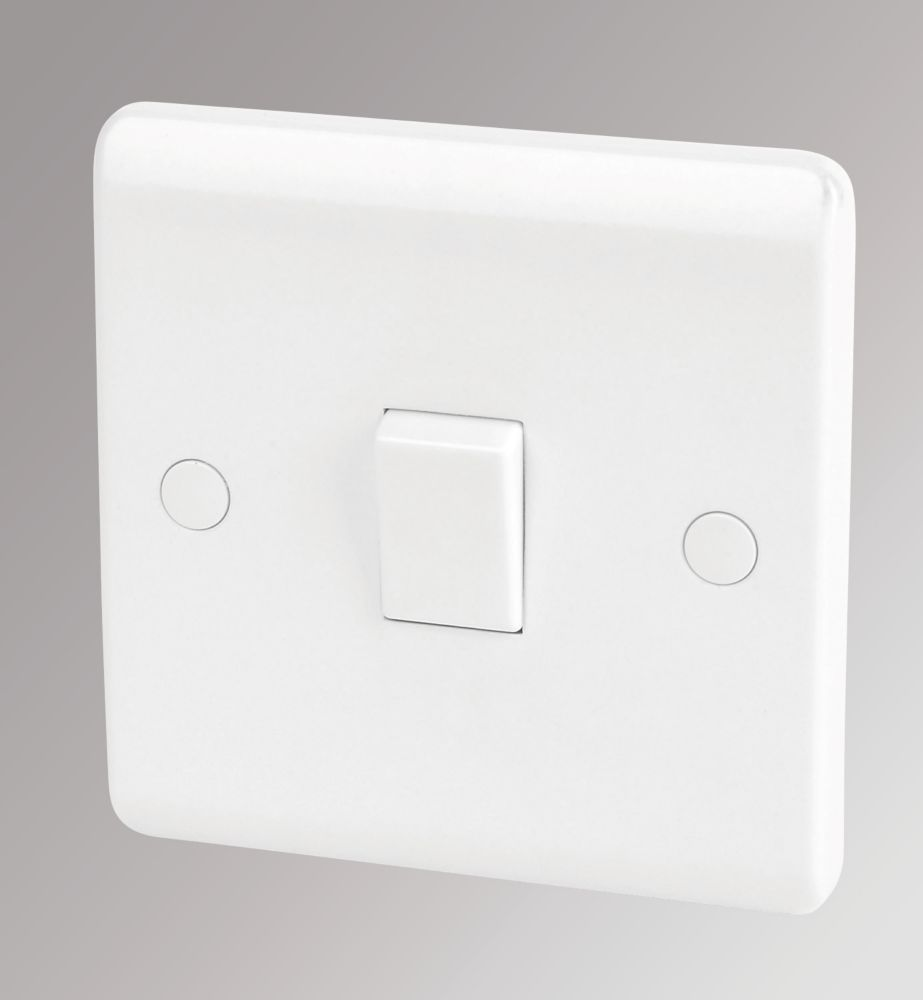 Image of LAP 10AX 1-Gang 1-Way Light Switch White