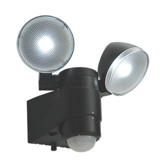Image of Saxby Laryn LED Floodlight & PIR Black 2 x 2W Daylight