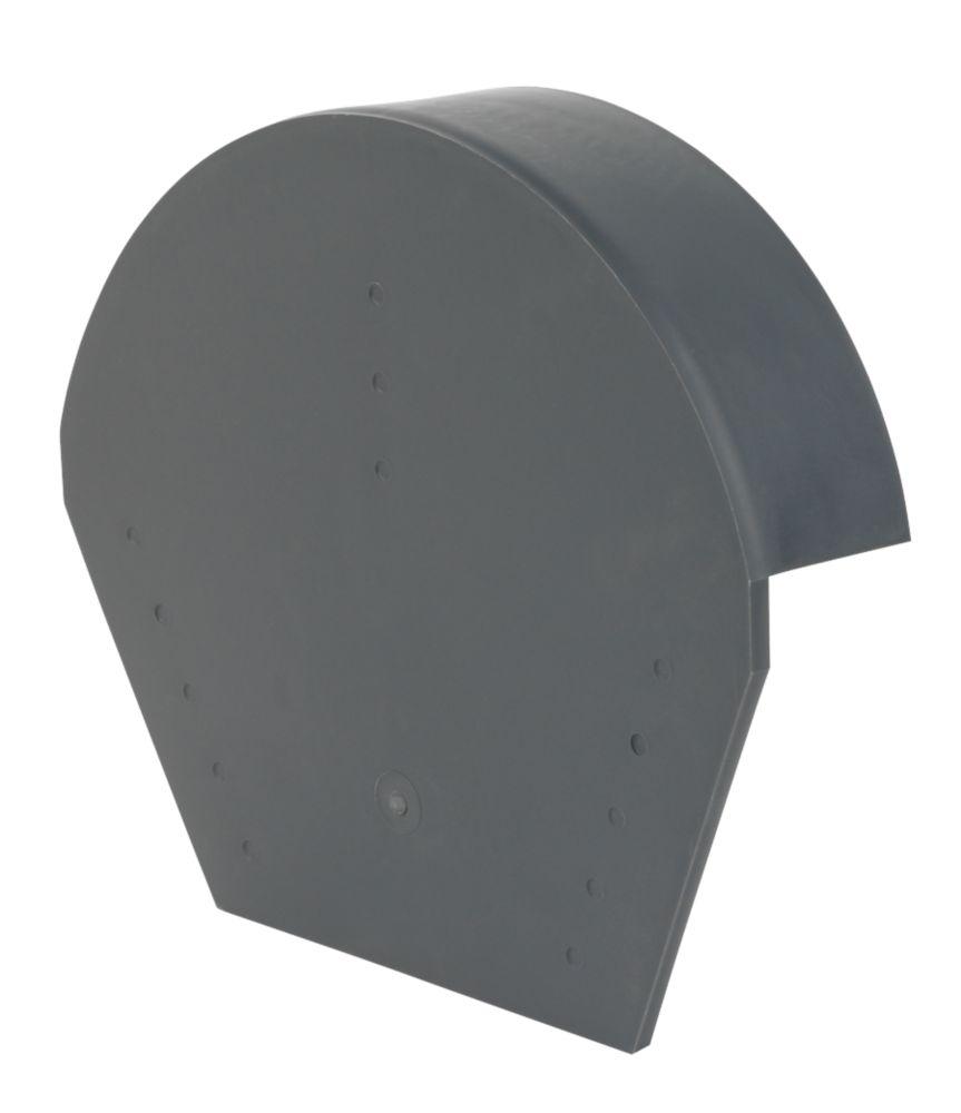 Image of Glidevale Grey Universal Dry Verge Half Round Ridge Caps 2 Pack