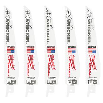 Image of Milwaukee 48005701 Sawzall Blade 150mm 5 Pack