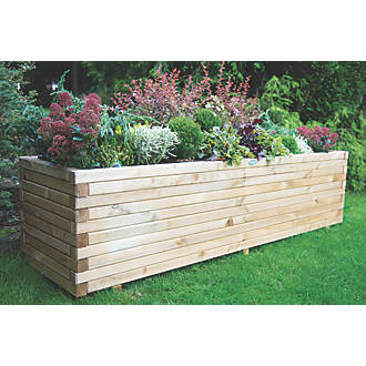 Image of Forest Rectangular Lomello Planter Natural Wood 1800 x 500 x 500mm