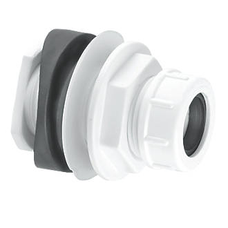 Image of McAlpine Boss Connector White 22mm
