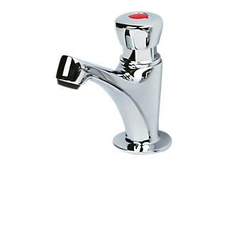 Image of H & C Self-Closing Bathroom Basin Pillar Tap Shine