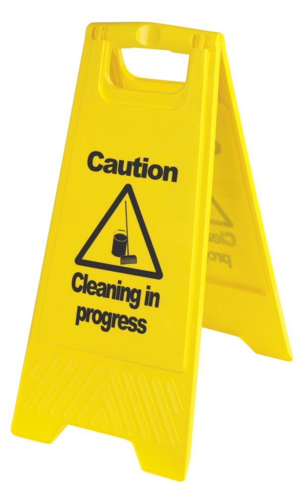 Image of Caution Cleaning in Progress A-Frame Safety Sign 600 x 290mm