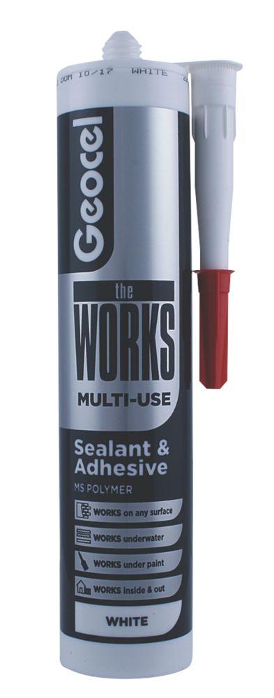 Image of Geocel The Works Sealant & Adhesive White 290ml