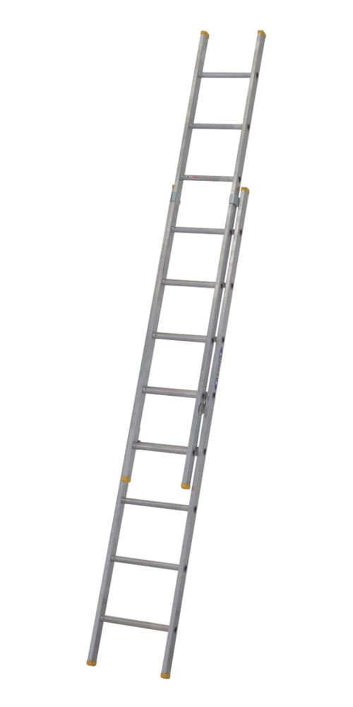 Image of 72224 Double Extension Ladder 16 Rungs Max. Height 4.07m
