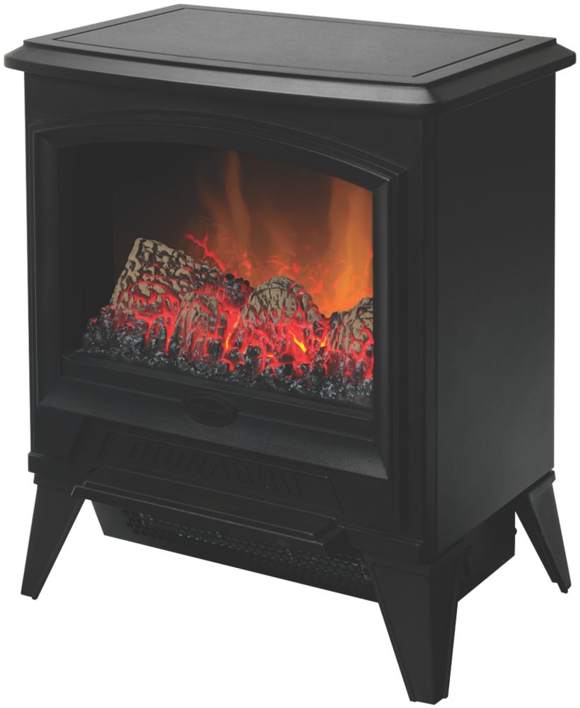 Image of Dimplex Casper Black Electric Stove with Built-In Fan Heater