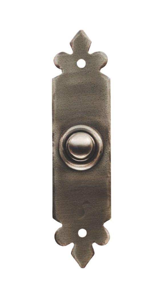 Image of Carlisle Brass Tudor Bell Push Pewter 118 x 30mm