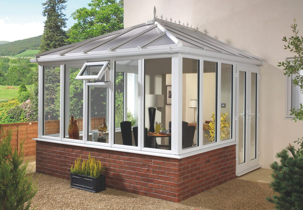Image of E6 Edwardian uPVC Double-Glazed Conservatory 3.13 x 3.66 x 3.12mm
