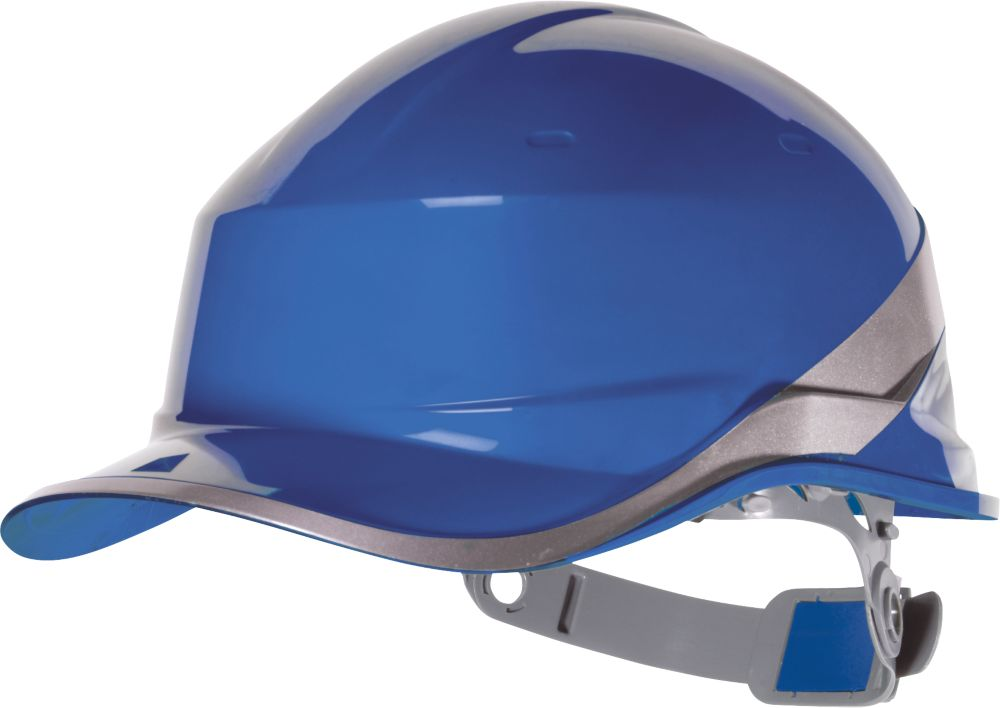 Image of Delta Plus DIAM5BLFL Premium Push-Button Safety Helmet Blue