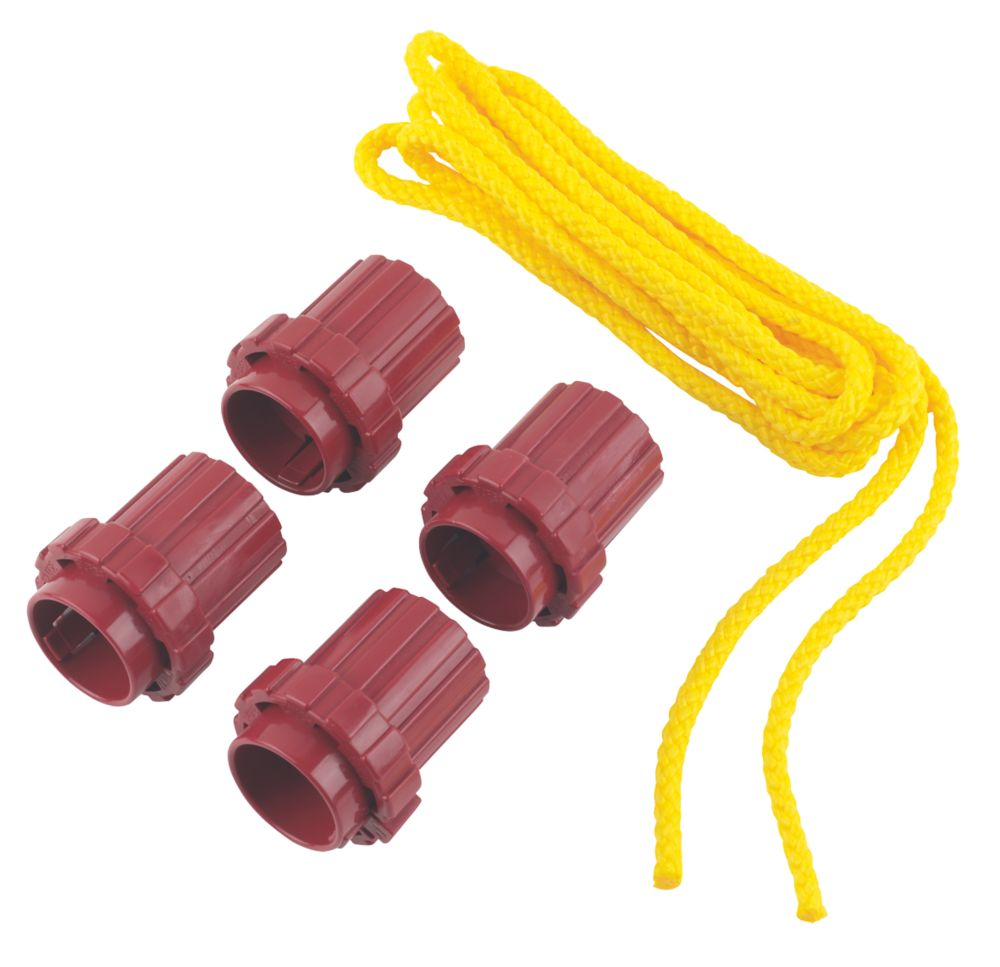 Image of What Knot Replacement Tools & 3.5m Yellow Rope 70mm x 60mm 5 Piece Set