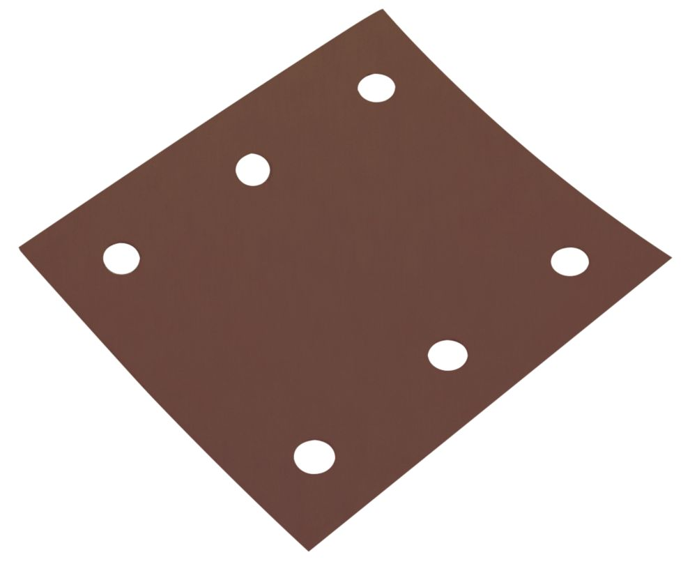 Image of Flexovit Sanding Sheets Punched 102 x 114mm 80 Grit 6 Pcs
