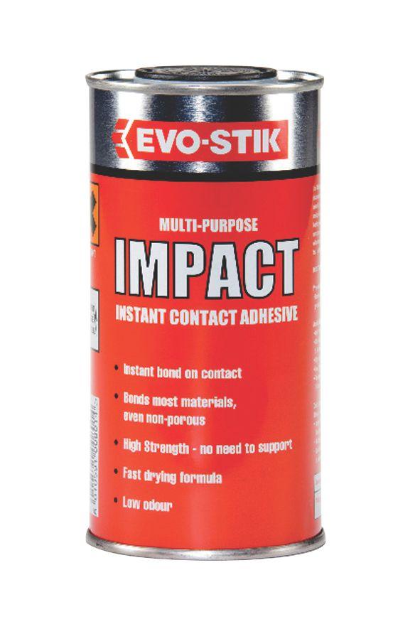 Image of Evo-Stik Impact Adhesive Light Amber 500ml