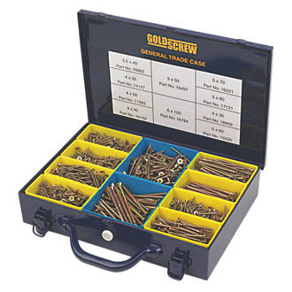 Image of Goldscrew PZ Double-Countersunk General Trade Case 1400 Pcs