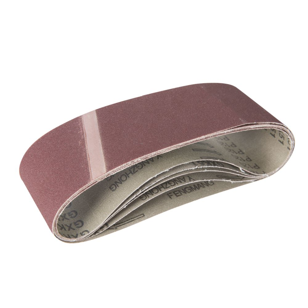 Image of Triton Alox Sanding Belts Unpunched 76 x 533mm 120 Grit 5 Pack