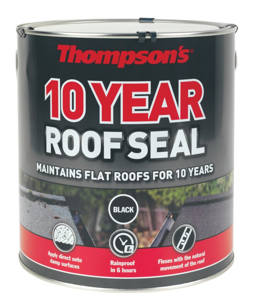 Image of Thompsons 10 Year Roof Seal Black 4Ltr