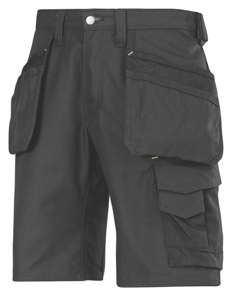 "Image of Snickers 3014 Craftsmen Multi-Pocket Shorts Black 31"" W"