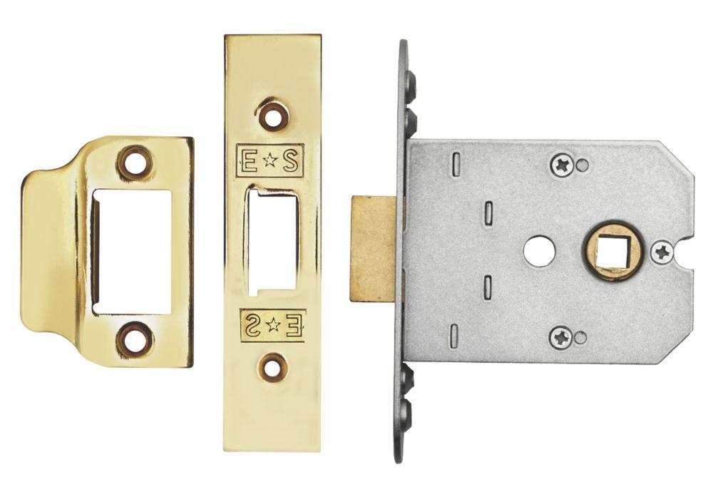 Image of Eurospec Flat Mortice Latch Electro Brass 76mm