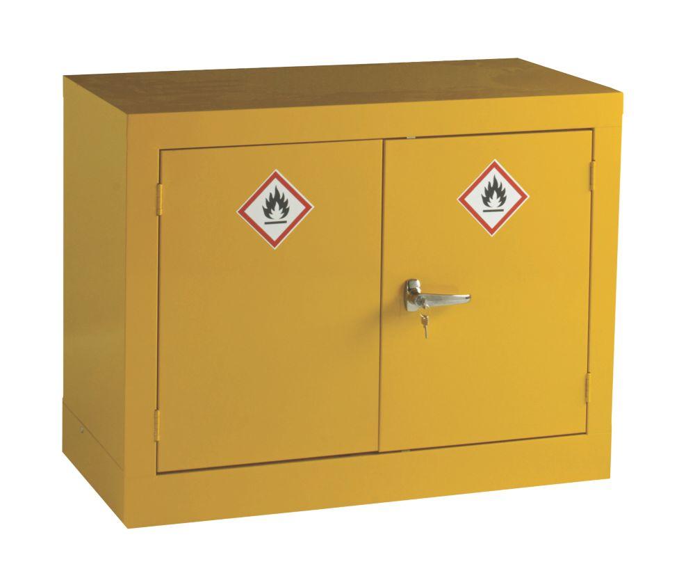 Image of Hazardous Substance Cabinet Yellow 915 x 457 x 711mm