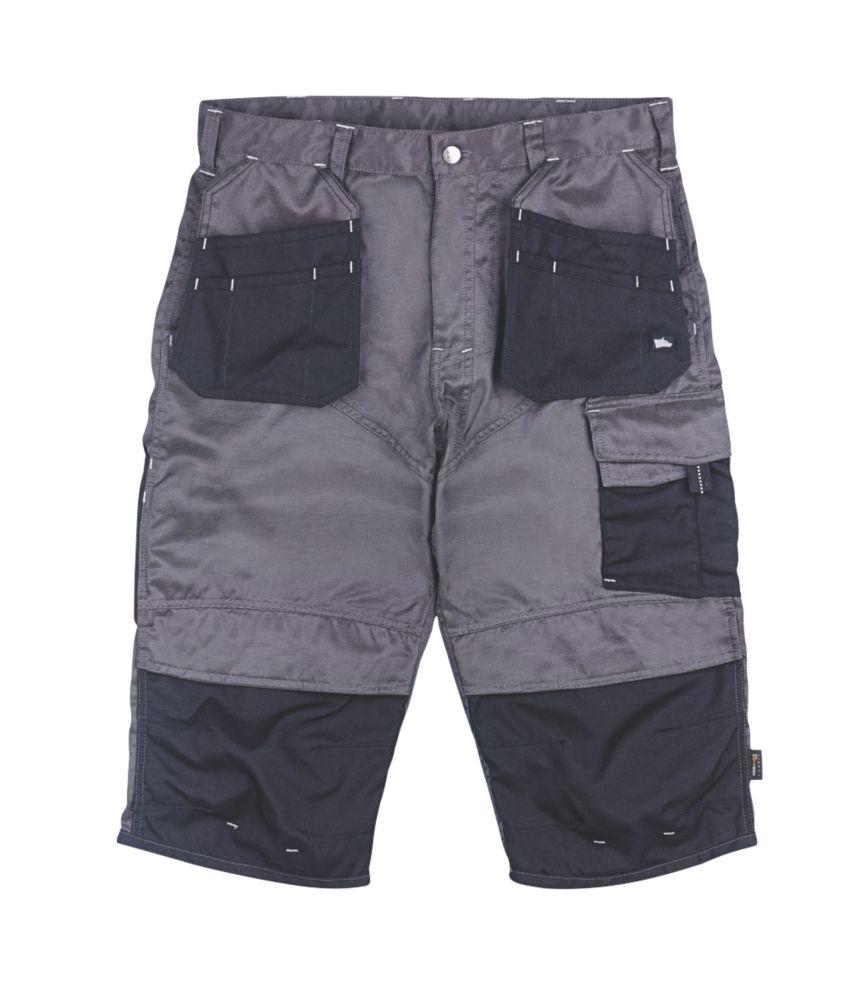 "Image of Hyena Brecon Pirate Shorts Grey / Black 30"" W"
