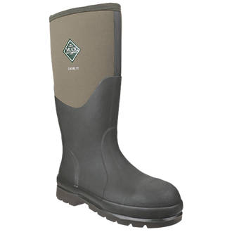 Image of Muck Boots Chore Classic Steel Safety Wellingtons Green Size 7