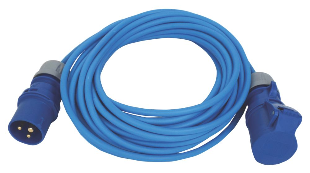 Image of Carroll & Meynell 230-240V Extension Lead Blue 2.5mm x 14m
