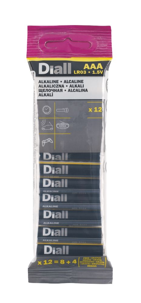 Image of Alkaline AAA Batteries 12 Pack