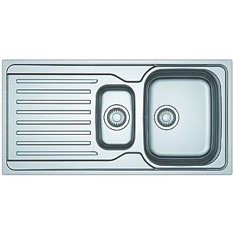 Image of Franke Antea Reversible Inset Sink & Drainer Stainless Steel 1.5 Bowl 1000 x 500mm
