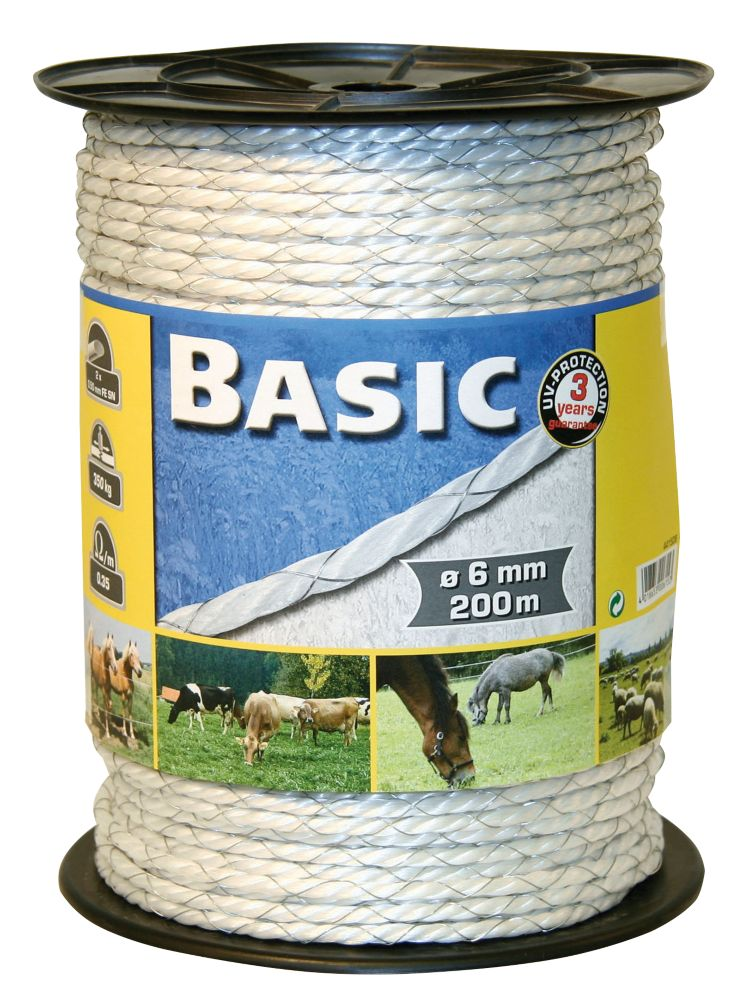 Image of Kerbl Electric Fence Polywire White 3mm x 250m